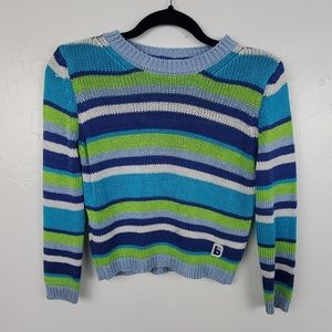 Benetton girl sweater strips made in Italy size 12
